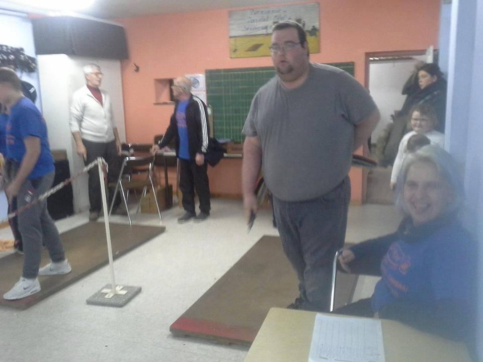 Christophe du club de Javelot de Romeries